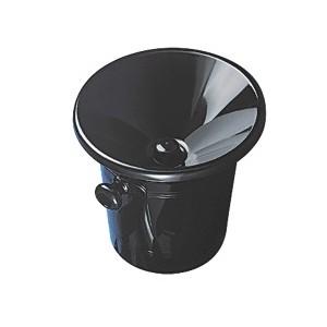 Crachoir en acrylique noir pour la dégustation des vins