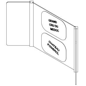 Vinea Concept - Plaque de fond pour angle en bois