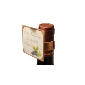 Etiquette ETIKTOU N° 4 pour le goulot de la bouteille - Pack de 12 unités
