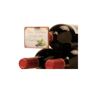 Etiquette ETIKTOU N° 2 pour le goulot de la bouteille - Pack de 12 unités